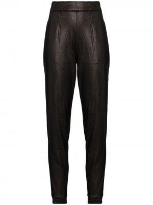 Спортивные брюки Ike из искусственной кожи Spanx. Цвет: черный