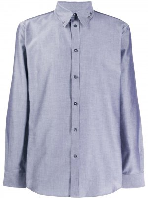 Рубашка с металлическим декором Givenchy. Цвет: серый