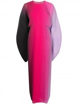 Платье макси с градиентным эффектом Solace London. Цвет: черный