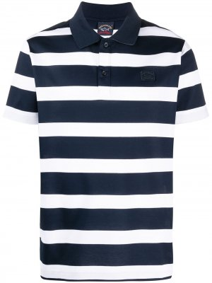 Полосатая рубашка поло с короткими рукавами Paul & Shark. Цвет: синий