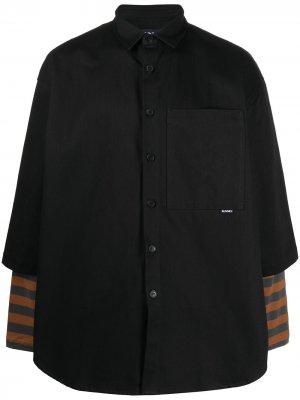 Рубашка оверсайз с короткими рукавами Sunnei. Цвет: черный