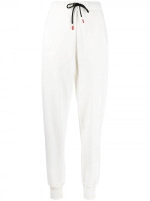 Спортивные брюки с графичным принтом Peuterey. Цвет: белый