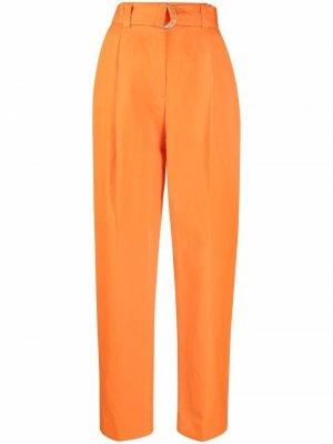 Прямые брюки с поясом MSGM. Цвет: оранжевый
