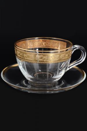 Набор чайных пар 6 шт BOHEMIA. Цвет: мульти