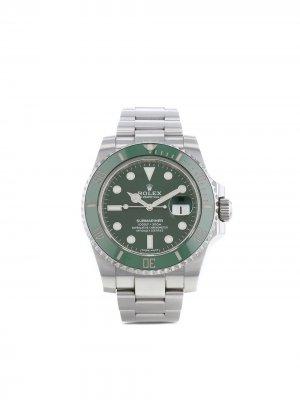 Наручные часы Submariner Date pre-owned 40 мм 2016-го года Rolex. Цвет: зеленый