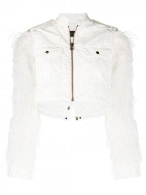 Укороченная куртка со съемным болеро Mr & Mrs Italy. Цвет: белый