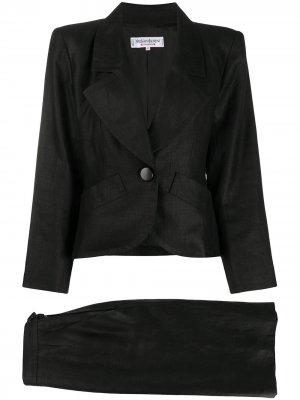 Костюм-двойка с юбкой Yves Saint Laurent Pre-Owned. Цвет: черный