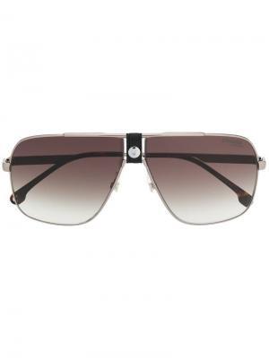 Солнцезащитные очки-авиаторы Carrera. Цвет: серебристый
