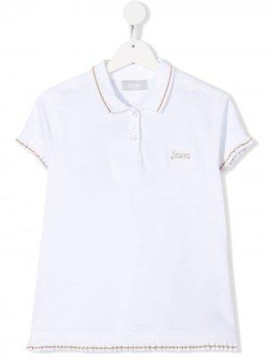 Рубашка поло с логотипом Herno Kids. Цвет: белый