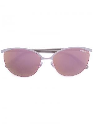 Солнцезащитные очки в половинчатой оправе Vogue Eyewear. Цвет: розовый
