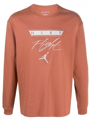 Топ с вышитым логотипом Jordan. Цвет: оранжевый