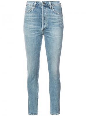 Облегающие джинсы с завышенной талией Citizens Of Humanity. Цвет: синий