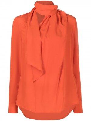 Блузка с шарфом Victoria Beckham. Цвет: оранжевый