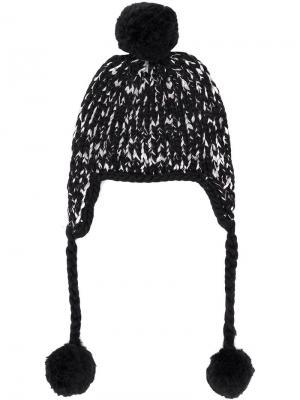 Pompon embellished hat Eugenia Kim. Цвет: черный