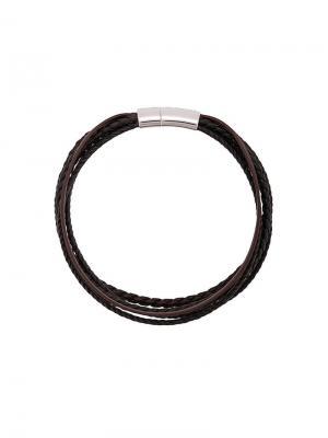 Cobra multi strand bracelet Tateossian. Цвет: коричневый