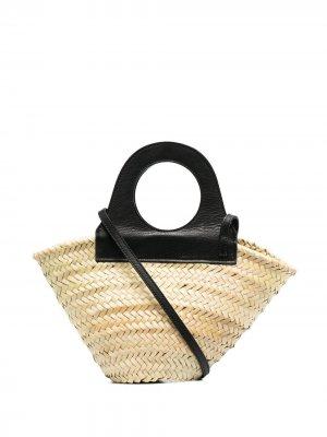 Соломенная сумка-тоут catarzi. Цвет: нейтральные цвета
