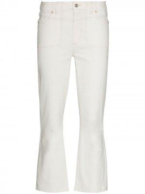 Укороченные расклешенные джинсы Colette PAIGE. Цвет: белый