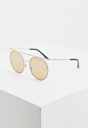 Очки солнцезащитные Giorgio Armani. Цвет: серебряный