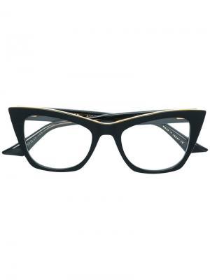 Очки Showgoer Dita Eyewear. Цвет: черный