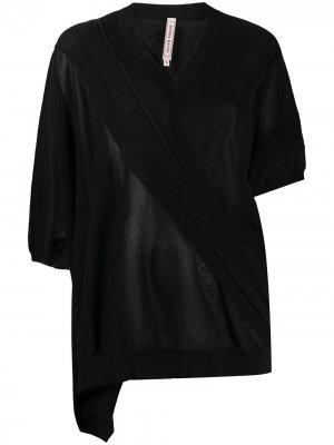 Джемпер асимметричного кроя Antonio Marras. Цвет: черный