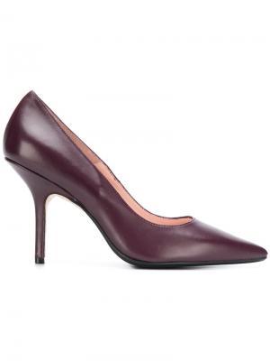 Классические туфли-лодочки на шпильке Anna F.. Цвет: красный