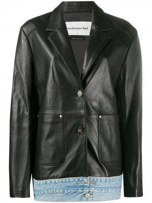 Куртка Molly со вставкой из денима Andersson Bell. Цвет: черный