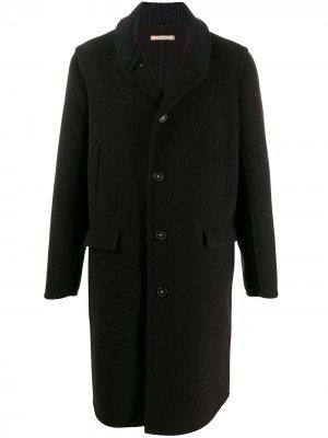 Пальто с трикотажным воротником Massimo Alba. Цвет: коричневый