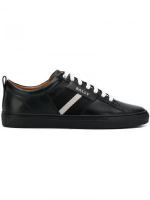 Кроссовки на шнуровке Bally. Цвет: черный