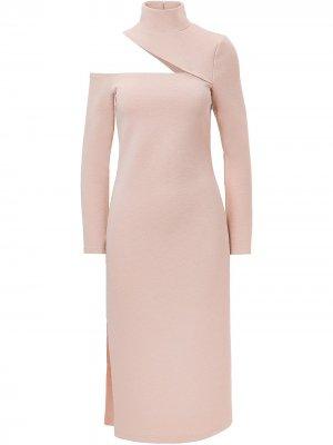 Платье Eleni с открытым плечом Nicholas. Цвет: розовый