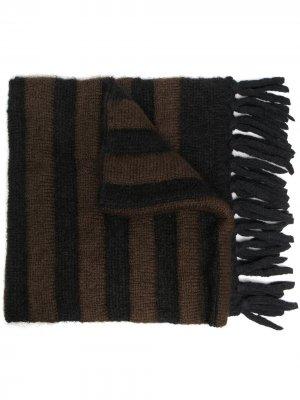 Полосатый шарф Moncler. Цвет: черный