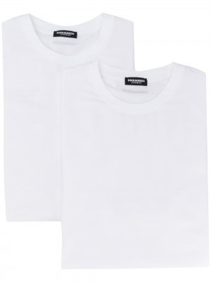 Комплект из двух футболок Dsquared2. Цвет: белый