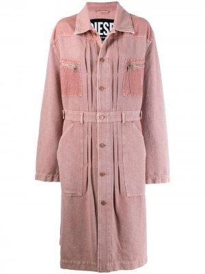 Джинсовое платье Diesel. Цвет: розовый