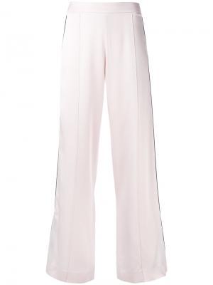Атласные широкие брюки Mother Of Pearl. Цвет: розовый