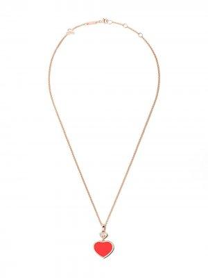 Колье Happy Hearts с кулоном бриллиантами Chopard. Цвет: розовый