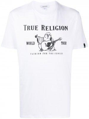 Футболка с графичным принтом True Religion. Цвет: белый