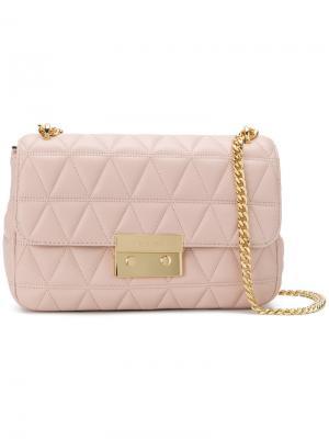 Большая сумка на плечо Sloan Michael Kors. Цвет: розовый