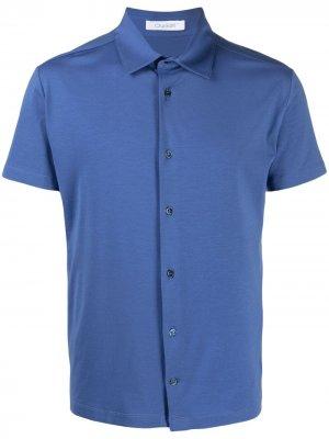 Рубашка из джерси с короткими рукавами Cruciani. Цвет: синий