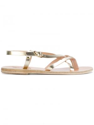 Сандалии Semele Ancient Greek Sandals. Цвет: золотистый
