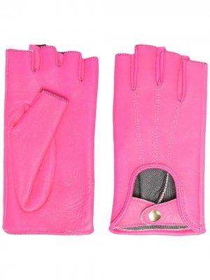 Перчатки-митенки Manokhi. Цвет: розовый