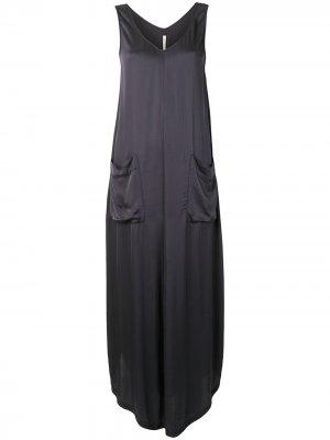 Платье-трапеция с V-образным вырезом Raquel Allegra. Цвет: серый