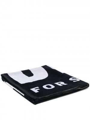 Пляжное полотенце с логотипом Diesel. Цвет: черный