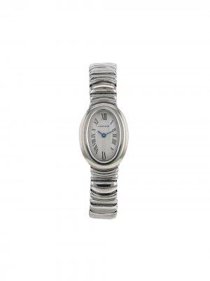 Наручные часы Baignoire pre-owned 18 мм 1990-х годов Cartier. Цвет: белый