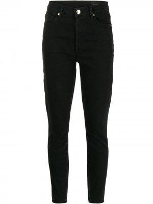 Укороченные джинсы кроя слим GOLDSIGN. Цвет: черный