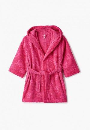Халат домашний United Colors of Benetton. Цвет: розовый