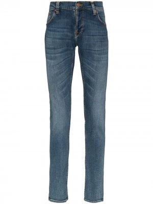 Джинсы скинни Tight Terry Nudie Jeans. Цвет: синий