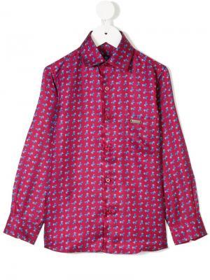 Рубашка с принтом Stefano Ricci Kids. Цвет: розовый