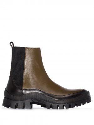Ботинки на массивной подошве Rejina Pyo. Цвет: зеленый