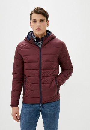 Куртка утепленная Jack & Jones. Цвет: бордовый