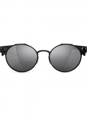 Солнцезащитные очки Deadbolt в круглой оправе Oakley. Цвет: черный