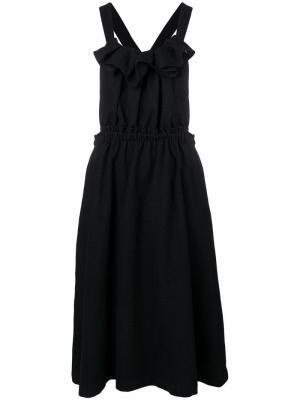 Платье-сарафан с перекрещивающимися лямками на спине Comme Des Garçons Noir Kei Ninomiya. Цвет: черный